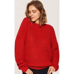Sweter oversize - Czerwony. Czerwone swetry oversize damskie marki House, l. Za 69,99 zł.