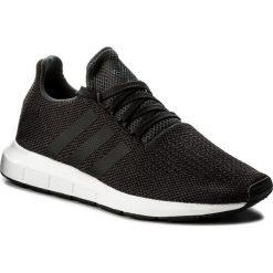 Buty adidas - Swift Run CQ2114 Carbon/Cblack/Mgreyh. Czarne halówki męskie Adidas, z materiału. W wyprzedaży za 259,00 zł.