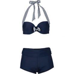 Stroje kąpielowe damskie: Bikini na fiszbinach (2 części) bonprix niebiesko-biały