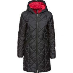 Płaszcz pikowany dwukolorowy bonprix czerwono-czarny. Czerwone płaszcze damskie pastelowe bonprix. Za 149,99 zł.