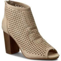 Botki JENNY FAIRY - WSY95-1 Beżowy. Brązowe buty zimowe damskie Jenny Fairy, z materiału, na obcasie. Za 119,99 zł.