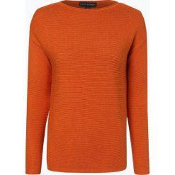 Franco Callegari - Sweter damski, pomarańczowy. Zielone swetry klasyczne damskie marki Franco Callegari, z napisami. Za 229,95 zł.