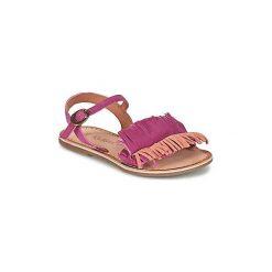 Sandały Dziecko  Kickers  DIXFROUFROU KID. Niebieskie sandały dziewczęce marki Kickers, z kauczuku, na sznurówki. Za 191,20 zł.