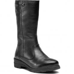 Kozaki CAPRICE - 9-26447-21 Black Nappa 022. Czarne buty zimowe damskie Caprice, ze skóry, przed kolano, na wysokim obcasie. W wyprzedaży za 319,00 zł.