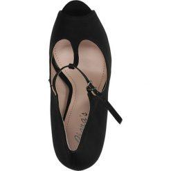 CZÓŁENKA CASU CLARA'S 307. Czarne buty ślubne damskie Casu, na koturnie. Za 79,99 zł.