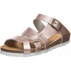 Buty damskie: Skórzane klapki w kolorze jasnoróżowym