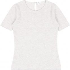 Sweter kaszmirowy w kolorze kremowym. Białe swetry klasyczne damskie marki Ateliers de la Maille, z kaszmiru, z okrągłym kołnierzem. W wyprzedaży za 318,95 zł.