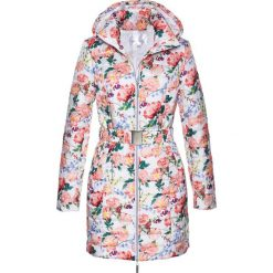 Długa kurtka pikowana bonprix biały z nadrukiem. Białe kurtki damskie pikowane marki bonprix, z nadrukiem. Za 139,99 zł.