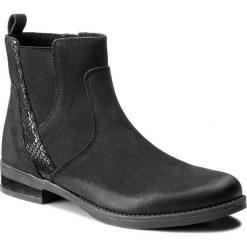 Botki LASOCKI - EST-OXA-01 Czarny. Czarne buty zimowe damskie Lasocki, z nubiku. Za 199,99 zł.