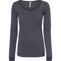 Ragwear - Damska koszulka z długim rękawem – Noira Organic, niebieski. Niebieskie t-shirty damskie marki Ragwear, l, w prążki, z dżerseju, z klasycznym kołnierzykiem. Za 159,95 zł.