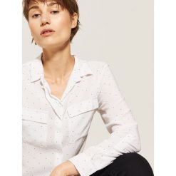 Gładka koszula - Kremowy. Niebieskie koszule damskie marki House, m. Za 59,99 zł.