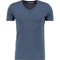 T-shirty męskie: Samsøe & Samsøe MARIAN VNECK Tshirt basic majolica blue melange