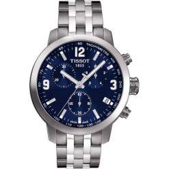 PROMOCJA ZEGAREK TISSOT T-SPORT T055.417.11.047.00. Niebieskie zegarki męskie TISSOT, ze stali. W wyprzedaży za 1804,00 zł.