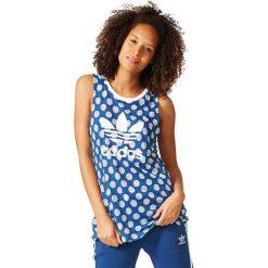Topy sportowe damskie: Adidas Koszulka damska  Loose Tank niebieska r. 34 (BK2089)