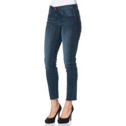 """Spodnie z wysokim stanem: Dżinsy """"Alexa"""" w kolorze granatowym"""