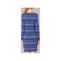 Sukienki krótkie MICHAEL Michael Kors  ADRENNAIS LS BTNK DRS. Niebieskie sukienki mini marki MICHAEL Michael Kors, m, z krótkim rękawem. Za 647,20 zł.