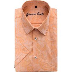 Koszula ARTURO 15-03-19-K. Brązowe koszule męskie marki QUECHUA, m, z elastanu, z krótkim rękawem. Za 199,00 zł.