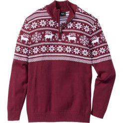 Sweter ze stójką Regular Fit bonprix jeżynowy. Fioletowe golfy męskie marki bonprix, m. Za 49,99 zł.