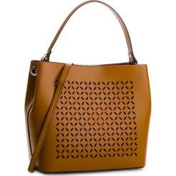 Torebka CREOLE - K10469  Koniak. Brązowe torebki klasyczne damskie Creole, ze skóry, duże. W wyprzedaży za 279,00 zł.