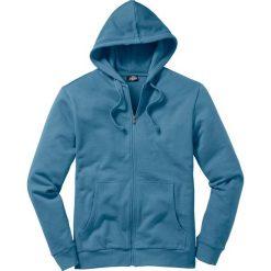 Bluza rozpinana z kapturem Regular Fit bonprix niebieski dżins. Niebieskie bejsbolówki męskie bonprix, l, z dresówki, z kapturem. Za 49,99 zł.