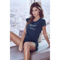 Piżamy damskie: Damska piżama Corto granatowa