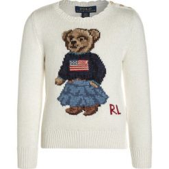 Swetry dziewczęce: Polo Ralph Lauren ICONIC BEAR Sweter essex cream