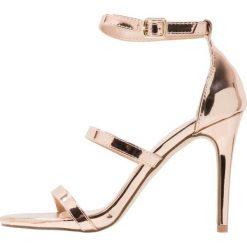 Sandały damskie: Miss Selfridge CAIT Sandały na obcasie metallic