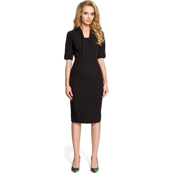 3ca04954fb SHERRY Sukienka ołówkowa z dekoltem szalowym - czarna - Czarne ...