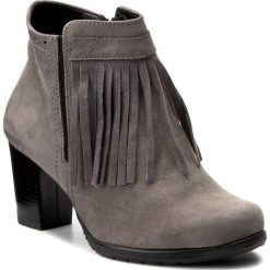 Botki SERGIO BARDI - Leonida FW127253317PL  109. Szare buty zimowe damskie Sergio Bardi, ze skóry, na obcasie. W wyprzedaży za 209,00 zł.