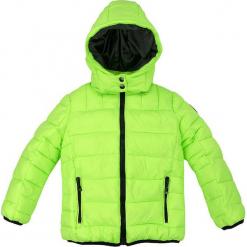 Kurtka zimowa w kolorze zielonym. Zielone kurtki chłopięce zimowe Bondi, ze skóry. W wyprzedaży za 132,95 zł.