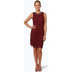 Marie Lund - Damska sukienka koktajlowa, czerwony. Czerwone sukienki balowe Marie Lund, na imprezę, w koronkowe wzory, z koronki, z krótkim rękawem, mini. Za 499,95 zł.