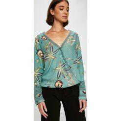 Roxy - Bluzka. Szare bluzki nietoperze marki Roxy, m, z bawełny, casualowe. W wyprzedaży za 199,90 zł.