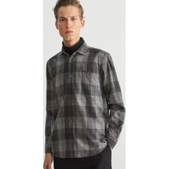 Koszula w kratę - Szary. Szare koszule męskie marki Reserved, l. Za 169,99 zł.