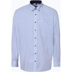 Eterna Comfort Fit - Koszula męska – niewymagająca prasowania, niebieski. Niebieskie koszule męskie na spinki Eterna Comfort Fit, m, w kratkę, z klasycznym kołnierzykiem. Za 229,95 zł.