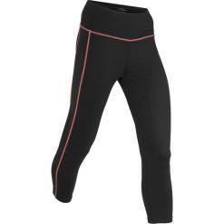 Legginsy sportowe, dł. 3/4, Level 2 bonprix czarny. Czarne legginsy we wzory bonprix. Za 79,99 zł.