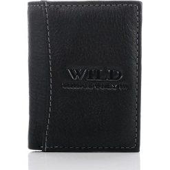 Portfele męskie: Skórzany portfel męski WILD czarny