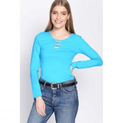 Niebieska Bluzka Louder. Niebieskie bluzki asymetryczne Born2be, l, z długim rękawem. Za 24,99 zł.