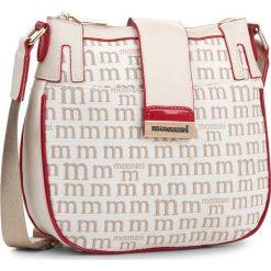 Torebka MONNARI - BAG3210-015 Beige With White. Brązowe listonoszki damskie Monnari, z materiału. W wyprzedaży za 109,00 zł.
