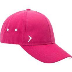 Czapka damska CAD600 - różowy melanż - Outhorn. Czerwone czapki z daszkiem damskie Outhorn, melanż, z materiału. Za 29,99 zł.