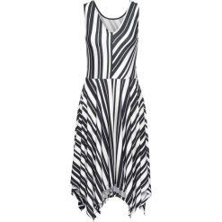 Sukienki: Sukienka z dżerseju w paski bonprix czarno-biały w paski
