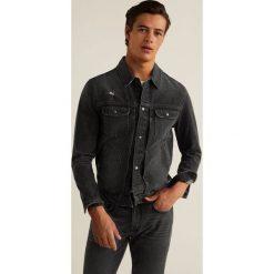 Mango Man - Kurtka Paul3. Czarne kurtki męskie jeansowe marki Mango Man, l. W wyprzedaży za 139,90 zł.