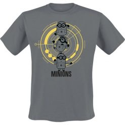 T-shirty męskie z nadrukiem: Minions Black Foil Minions T-Shirt ciemnoszary