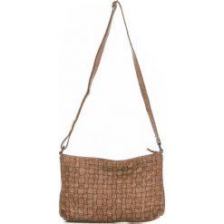 Torebki klasyczne damskie: Skórzana torebka w kolorze szarobrązowym – 30 x 20 x 8 cm
