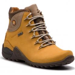 Trekkingi NIK - 08-0126-00-3-11-00  Żółty. Żółte buty zimowe damskie Nik, z materiału. W wyprzedaży za 239,00 zł.
