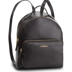 Plecak COCCINELLE - DF8 Clementine Soft E1 DF8 14 01 01 Noir 001. Czarne plecaki damskie Coccinelle, ze skóry. Za 1299,90 zł.