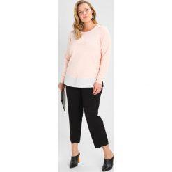 Swetry klasyczne damskie: Zizzi Sweter mauve/chalk
