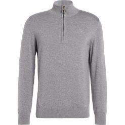 Swetry klasyczne męskie: Barbour HALF ZIP Sweter grey marl