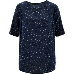 Bluzka, krótki rękaw bonprix ciemnoniebieski wzorzysty. Niebieskie bluzki damskie bonprix, z krótkim rękawem. Za 49,99 zł.