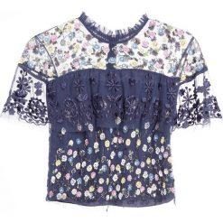 Bluzki asymetryczne: Needle & Thread TIERED ANGLAIS Bluzka washed indigo
