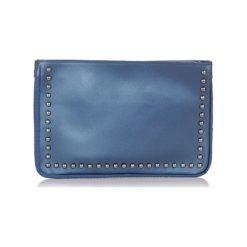 Puzderka: Skórzana kopertówka w kolorze niebieskim – (S)30 x (W)20 x (G)3 cm